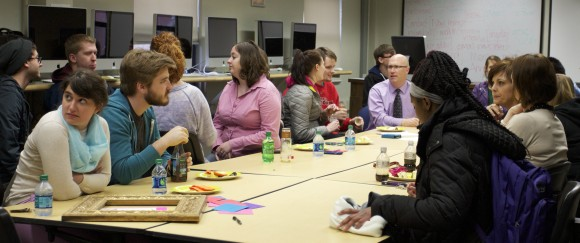 The Communication Department hosted a farewell party fo Associate Professor Dr. Emily Lamb Normand Monday, Apr. 14.