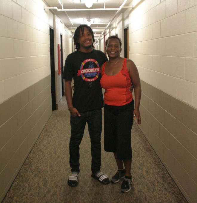 Emanuel Purifoy and his mother, Burchette Winchester.