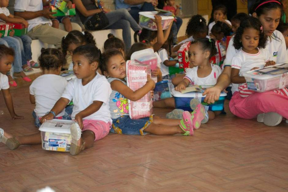While on an Operation Christmas Child trip to Colombia last year. Chelsea Hays had the opportunity to hand out boxes to children in the area.