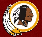 The Washington Redskins football team has gotten heat for both its team name and it's mascot, the feathered Indian pictured above.