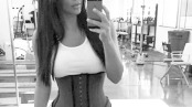 Kim Kardashian is popularizing the use of corsets while working out to shape up and thin out.  Photo/Fromtoday.com